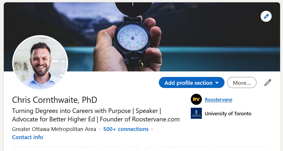 I include PhD after my name on LinkedIn.
