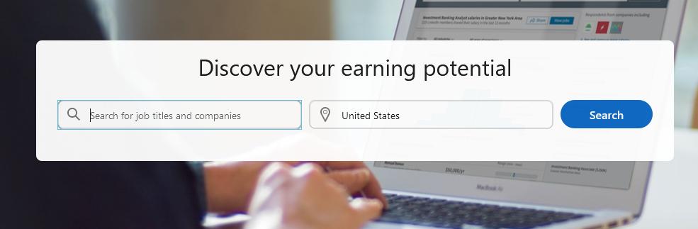 LinkedIn Premium Salary Search