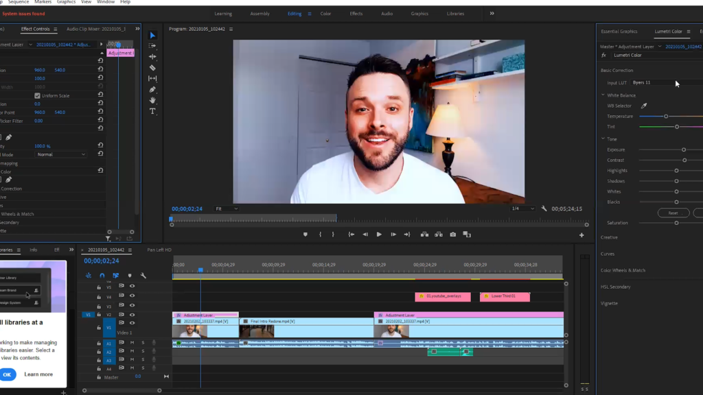 A simple LUTS pack in premiere makes your video look great!